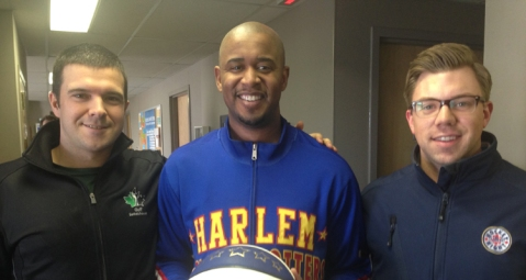 Ran into a Harlem Globetrotter at Shaw