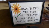 Grabbed a coffee at The Orange Toad and this amazing sign needed to be shared. Great place!